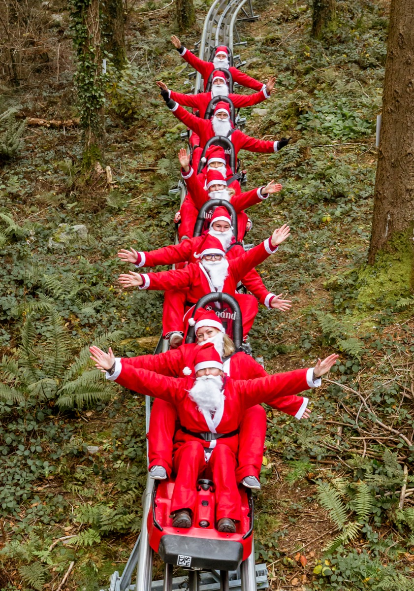 Santas on Fforest Coaster